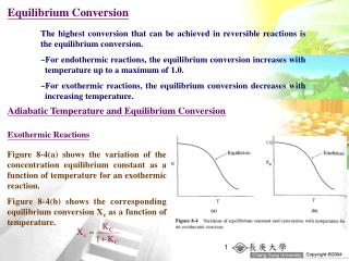 Equilibrium Conversion