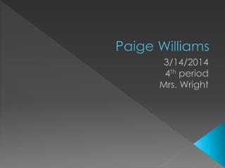Paige Williams