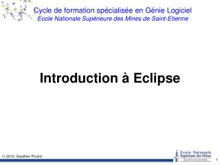 Introduction � Eclipse