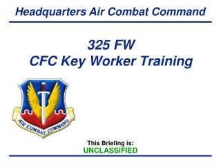 325 FW  CFC Key Worker Training