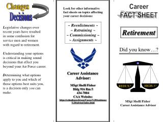 Career FACT SHEET