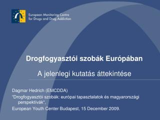 Drogfogyasztói szobák Európában A jelenlegi kutatás áttekintése