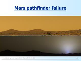 Mars pathfinder failure