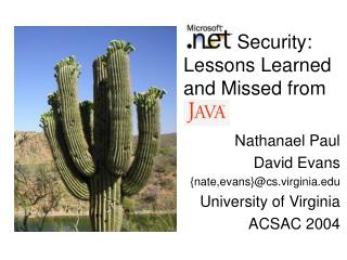 Security:  Lessons Learned and Missed from Java