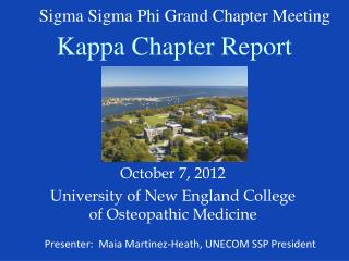 Kappa Chapter Report
