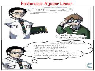Faktorisasi Aljabar Linear