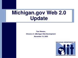 Michigan Web 2.0 Update