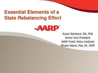 Essential Elements of a State Rebalancing Effort