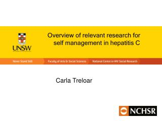 Overview of relevant research for self management in hepatitis C