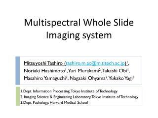 Mitsuyoshi Tashiro ( tashiro.m.ac@m.titech.ac.jp ) 1 ,