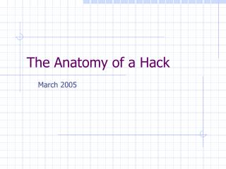 The Anatomy of a Hack
