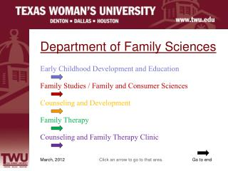 Department of Family Sciences