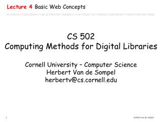 Lecture 4  Basic Web Concepts