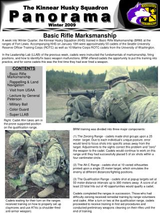 CONTENTS - Basic Rifle Marksmanship - Rappelling & Land Navigation - Visit from USAA
