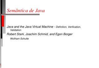 Semântica de Java