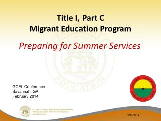 Title I, Part C Migrant Education Program
