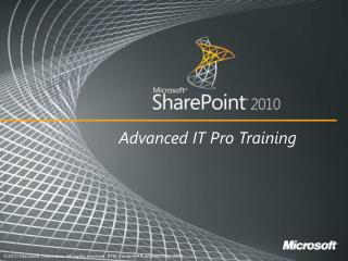 Business Continuity Management Features in SharePoint 2010