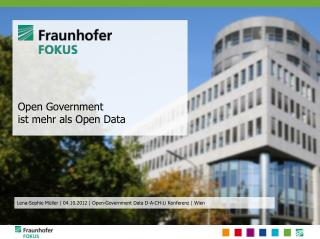 Open Government  ist mehr als Open  Data