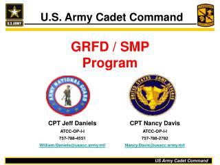 GRFD / SMP  Program