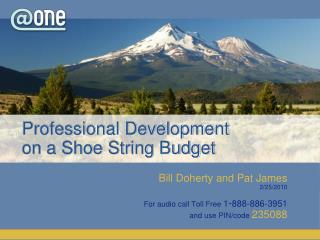 Professional Development  on a Shoe String Budget