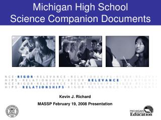 Michigan High School  Science Companion Documents