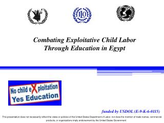 Combating Exploitative Child Labor Through Education in Egypt
