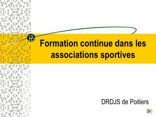 Formation continue dans les associations sportives
