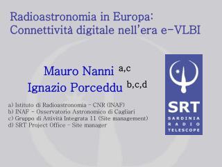 Radioastronomia in Europa: Connettività digitale nell'era e-VLBI