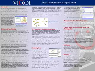 Visual Contextualisation of Digital Content