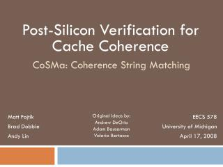 CoSMa: Coherence String Matching