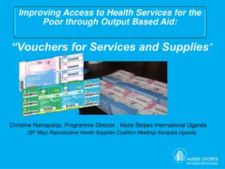 """Vouchers for Services and Supplies """