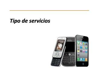 Tipo de servicios