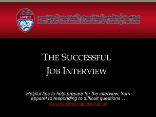 The Successful Job Interview