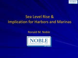 Sea Level Rise & Implication for Harbors and Marinas