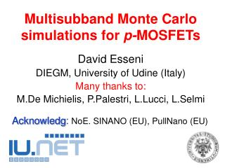 Multisubband Monte Carlo simulations for  p- MOSFETs
