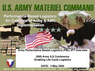 Performance-Based Logistics: An Overview of Army & AMC      Implementation
