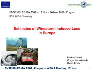 Estimates of Windstorm induced Loss  in Europe