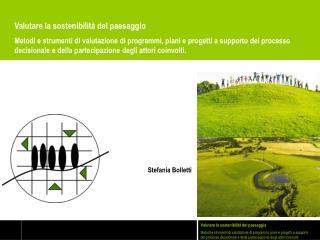 Valutare la sostenibilità del paesaggio
