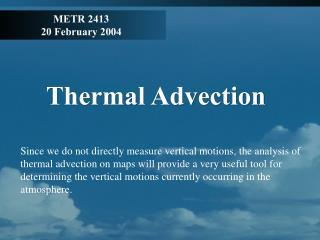 METR 2413 20 February 2004