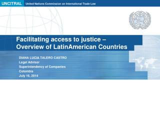 Facilitating access to justice – Overview of LatinAmerican Countries