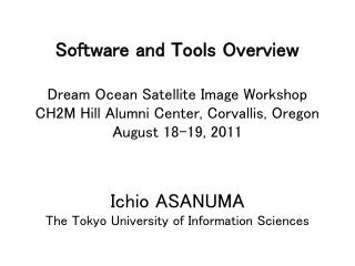 Software and Tools Overview