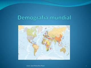 Demografía mundial