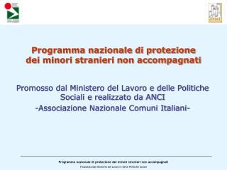 Programma nazionale di protezione  dei minori stranieri non accompagnati