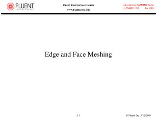 Edge and Face Meshing