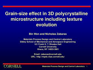 Grain-size effect in 3D polycrystalline microstructure including texture evolution