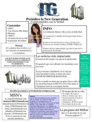 Periódico la New Generation