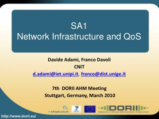 SA1 Network Infrastructure and QoS