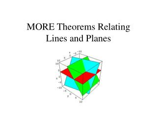 MORE Theorems Relating  Lines and Planes