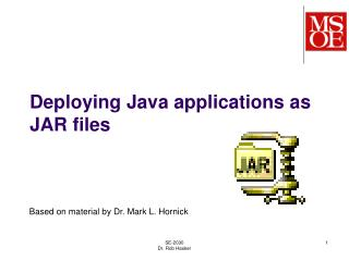 Deploying Java applications as JAR files