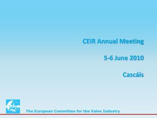 CEIR Annual Meeting 5-6 June 2010 Cascáis